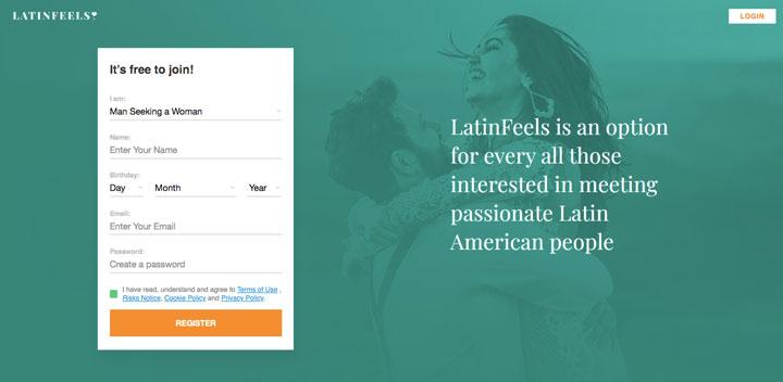 LatinFeels.com main page