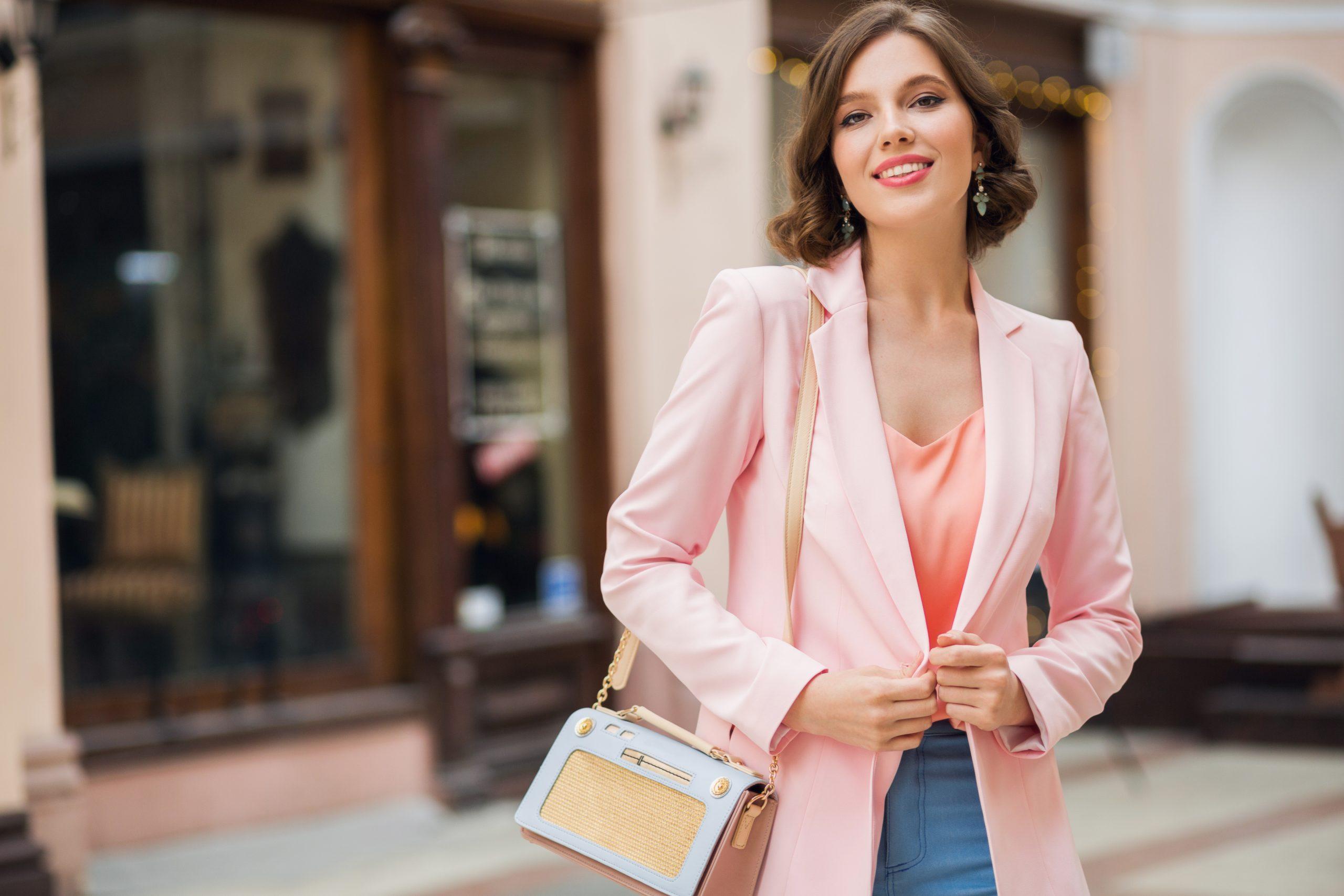 stylish beautiful European woman